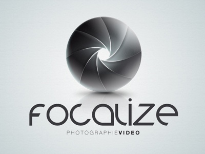 logo Focalize logo photography length focal texture logotype typography light volume photo