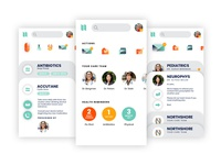 Screens for healthcare provider app