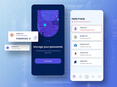 Password Manager Mobile App 🔒 passwords design mobile app product design ui ux mobile app design uidesign app encrypted password password manager