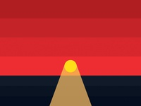 Enjoy every sunset // Low Poly