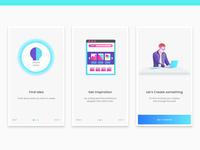 Onboarding creative design UI