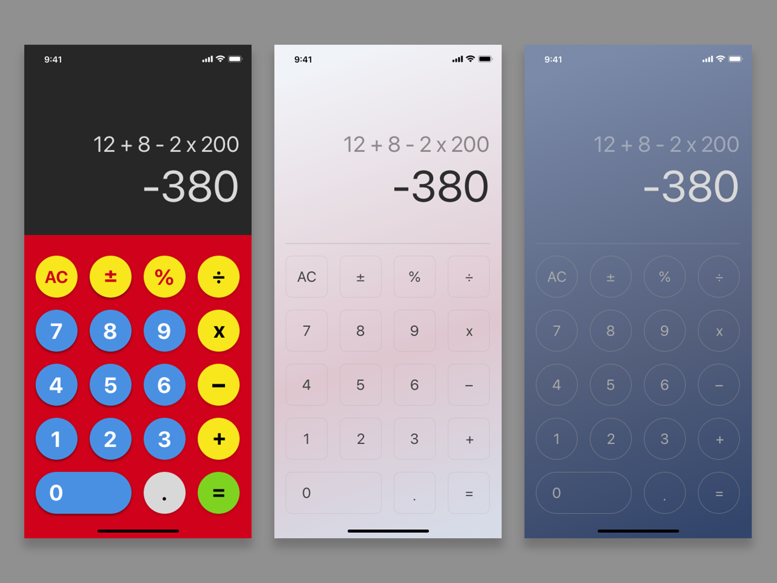 DailyUI 004 - Calculator