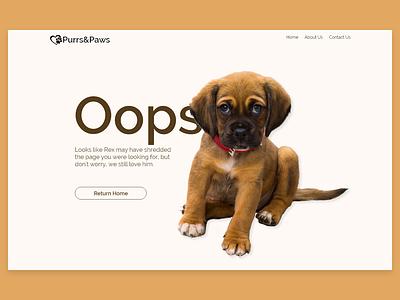 DailyUI Day 8 - 404 page puppy adobe xd design ui deisgn web design dailyui 008 008 dailyui