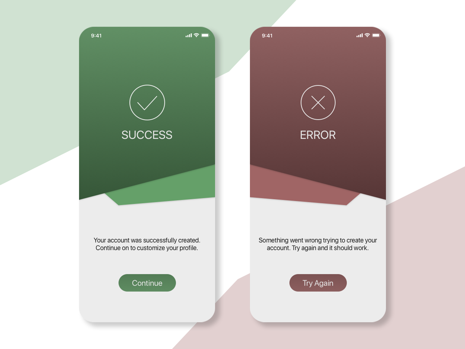 DailyUI Day 11 - Success/Error Messages