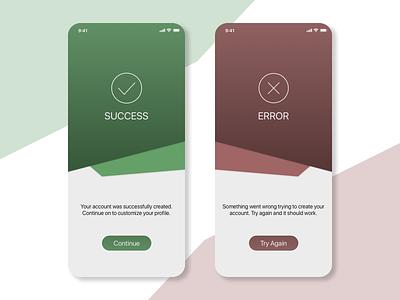 DailyUI Day 11 - Success/Error Messages success message error message design mobile iphone x ui design ui sketch 011 dailyui