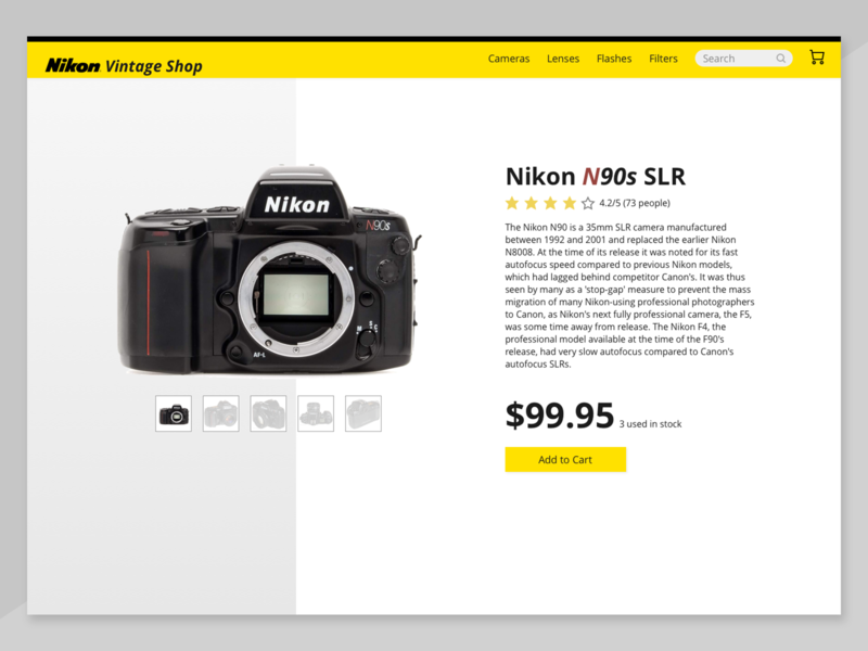 DailyUI Day 12 - eCommerce Single Product Page uidesign design sketch ecommerce web design ui design 012 dailyui