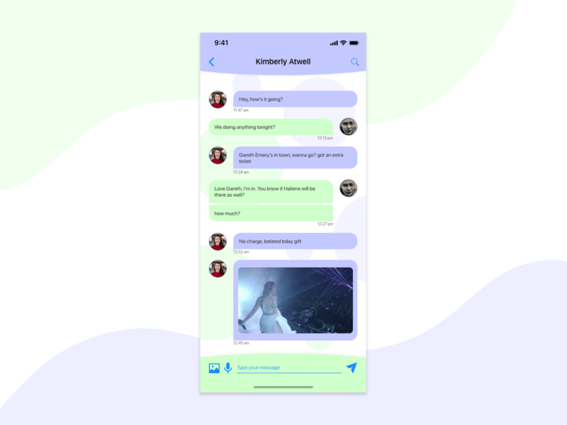 DailyUI Day 013 - Direct Messaging mobile app design iphone x direct messaging ui adobe xd mobile ui design 013 dailyui