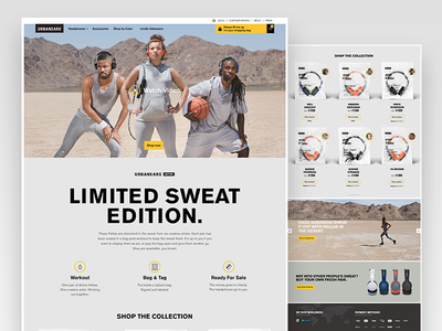 Urbanears Active Front Page white space interface branding homepage site website design website ux urbanears ui sweat product minimalistic headphones design campaign