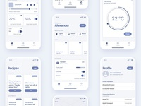 Smart Home App Concept Wireframes