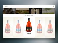 Larsen Cognac Full Screen Menu
