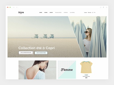 Blune_2/4 - Homepage colorful product blune design ecommerce art direction webdesign