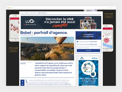 Ladn_4/4 - Single article blue colorful ladn design newspaper art direction webdesign
