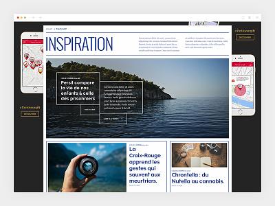 Ladn_3/4 - Categorie blue colorful ladn design newspaper art direction webdesign