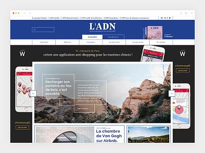 Ladn_2/4 - Homepage blue colorful ladn design newspaper art direction webdesign