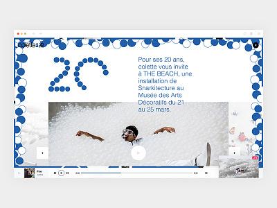 colette20ans_4/4 - Single colorz colette design webdesign art direction