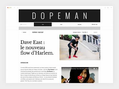 Dopeman_4/4 - Single hiphop magazine newspaper dopeman design webdesign art direction