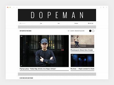 Dopeman_2/4 - Homepage hiphop magazine newspaper dopeman design webdesign art direction