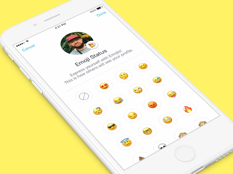 Emoji Status - Emoji Picker 😄 by Jake Asiddao | Dribbble | Dribbble