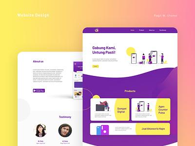 GAWAI Website company profile website branding ux design ui