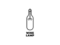 Wine Lamp Logo Concept