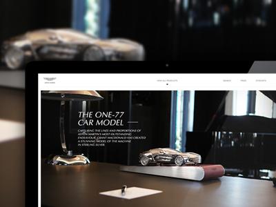 Aston Martin Silver london web web design website aston website aston martin e-commerce ecommerce omdesign