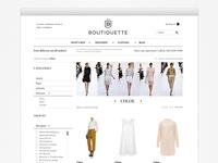 Boutiquette shop product listing