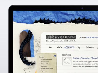 Story Garden  website design story garden website web design london omdesign