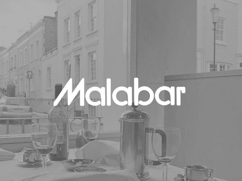 Malabar Restaurant in Notting Hill london omdesign website restaurant website