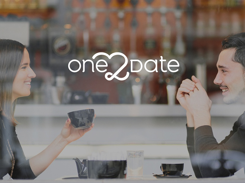 One2Date london dating logo logo design design london omdesign branding one2date