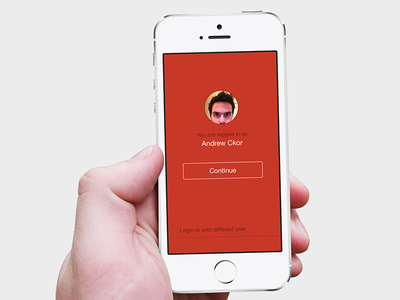 iOS7 Login Screen ios7 login button red easybring
