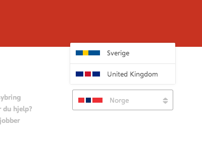 Minimal Flags easybring flag minimal alternative uk red white gray footer