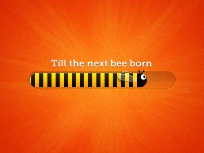 Bee progress bar bee yellow orange progress bar black yellow bar