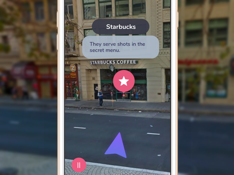 AR adventures – Map view labels app ios navigation augmented reality ar