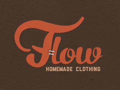 Flow logo logo orange brown flow texture homemade clothing clothes beige