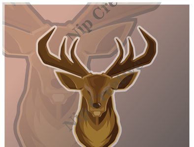 deer college mammal reindeer silhouette head buck beast antler team game vector cartoon animal sport character basketball emblem mascot baseball angry