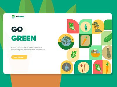 Green concept Web UI design app web ux ui adobe xd