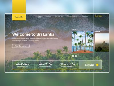 Travel Srilanka web ux ui adobe xd