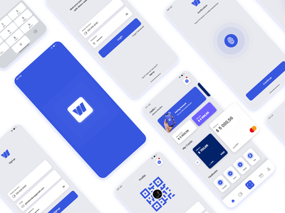 Wallet Mobile UI branding typography design app ui ux adobe xd