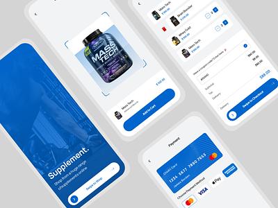 Supplement E-com Mobile App design app ux ui adobe xd