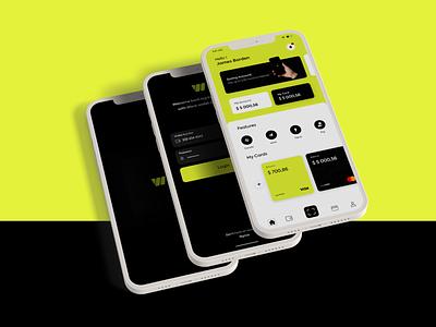Wallet Mobile UI logo branding design app ux ui adobe xd