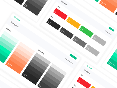 Diatx Design System - Color Pallete web design app ux ui adobe xd