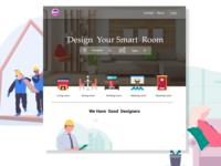 Landing-page-Room Design Web page