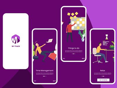 M-Track part 01 Splash Screen Mobile UI #6 app design web ux ui adobe xd