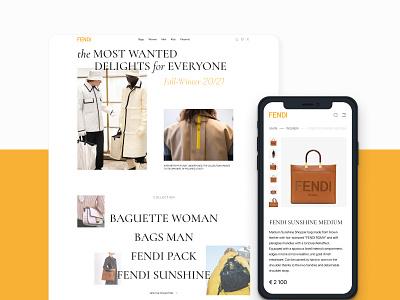 FENDI Redesign Concept ux uidesign ui concept design webdesigner website webdesign