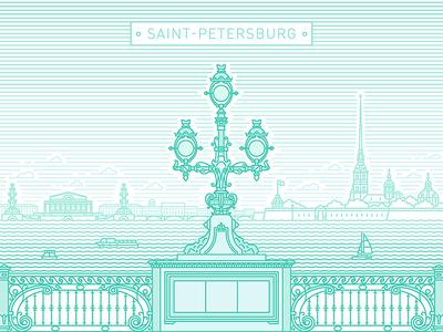 Saint-Petersburg, troitskiy bridge town petersburg troitskiy bridge building river city landscape panorama russia saintpetersburg line art