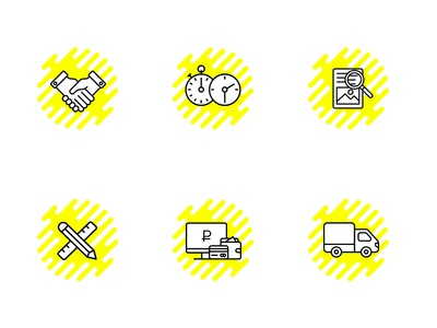 icons yellow templates business payment check trust delivery icons
