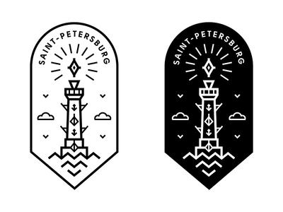Rostral column label label hipster vasil symbol simple saintpetersburg rostral petersburg logo line column