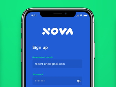Daily UI #001 / Sign Up figma blue registration authorization log in account sign up sign in mobile applicaiton app ui  ux ui inteface dailyui 001