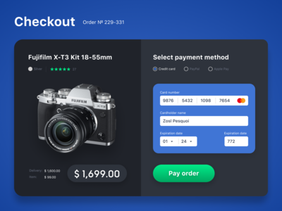 Daily UI #002 / Credit Card Checkout