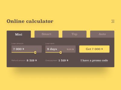 Daily UI #004 / Calculator